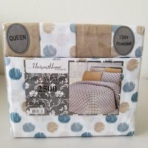 Queen Size Sheet Set 6 Piece